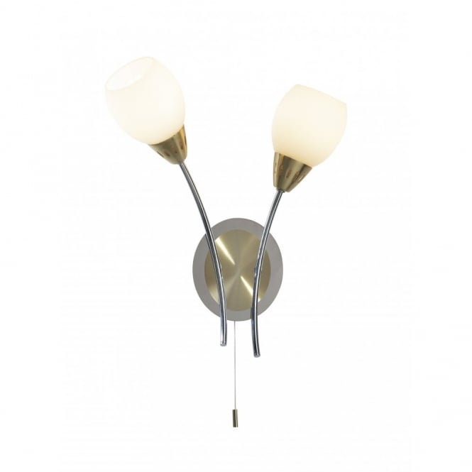 The Lighting Book TEMPO two tone brass & chrome double wall light