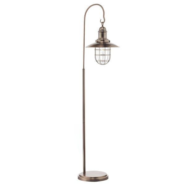 rustic copper hanging lantern floor lamp switched With lantern floor lamp uk