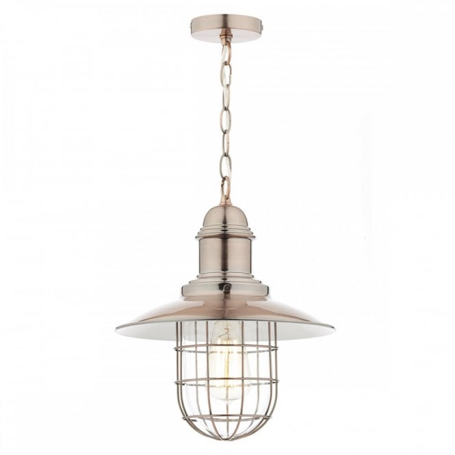 The Lighting Book TERRACE single retro ceiling pendant in a copper finish