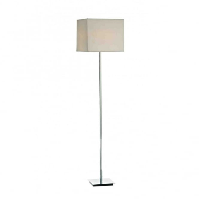 The Lighting Book TIBET contemporary polished chrome floor lamp with shade
