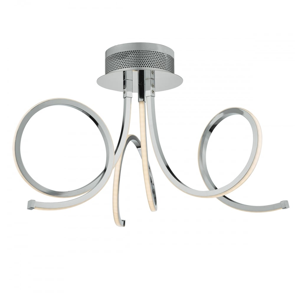 Modern polished chrome led ceiling light