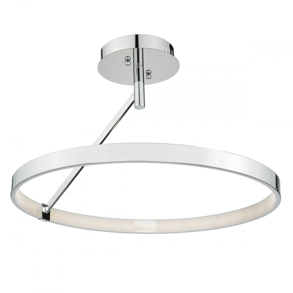 Chrome ring led ceiling light