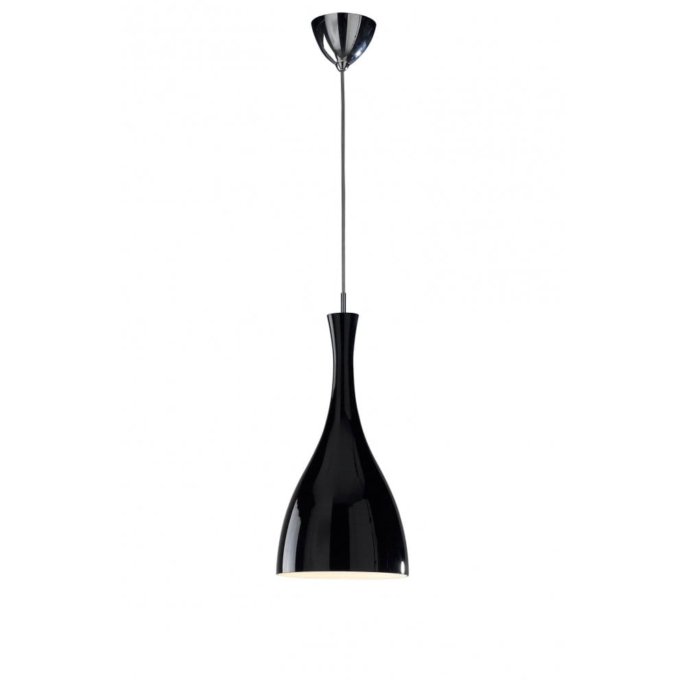 Tone modern black ceiling pendant light on a long wire for Pendant lighting for high ceilings