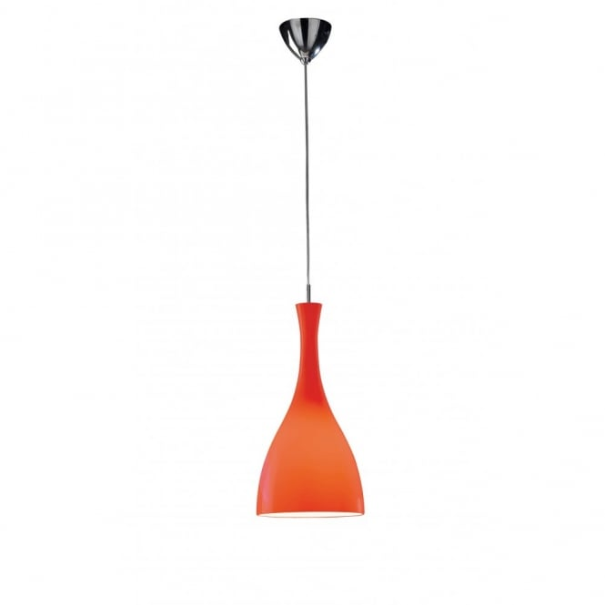 The Lighting Book TONE modern red glass ceiling pendant light