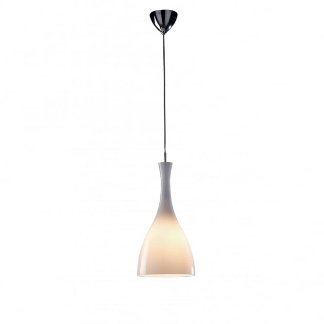 The Lighting Book TONE slimline white glass ceiling pendant light