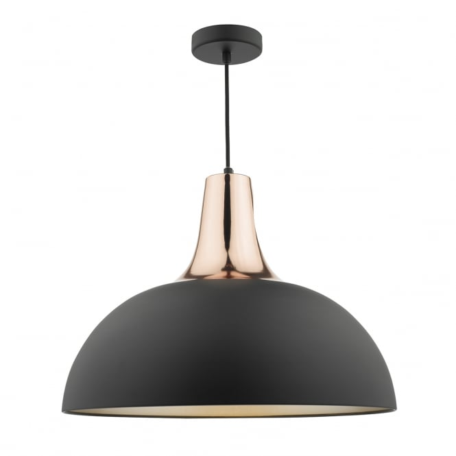 The Lighting Book TORONTO matte black and copper dome ceiling pendant