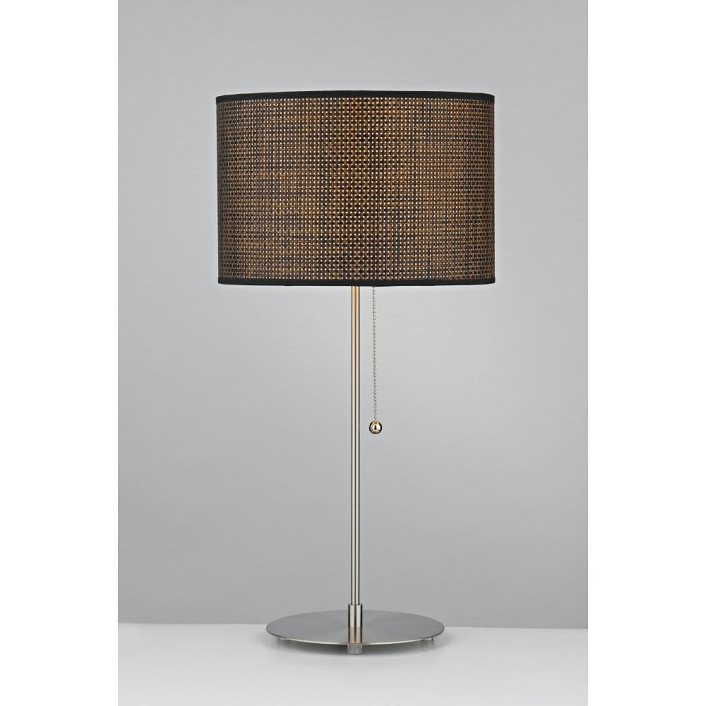 Tweed modern table lamp with dark chocolate shade for Modern contemporary table lamps