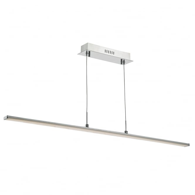 The Lighting Book TYDEUS modern polished chrome LED ceiling bar pendant