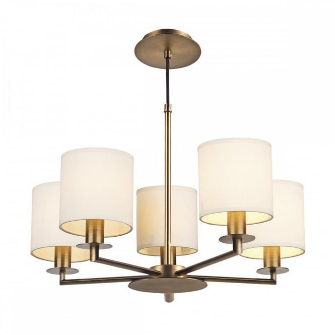 The Lighting Book TYLER a bronze ceiling 5 light complete with shade, luxury hotel style lighting.