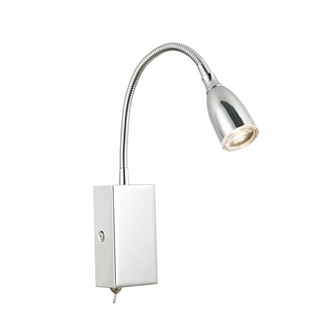 The Lighting Book UNO flexi head LED plug in reading light in polished chrome