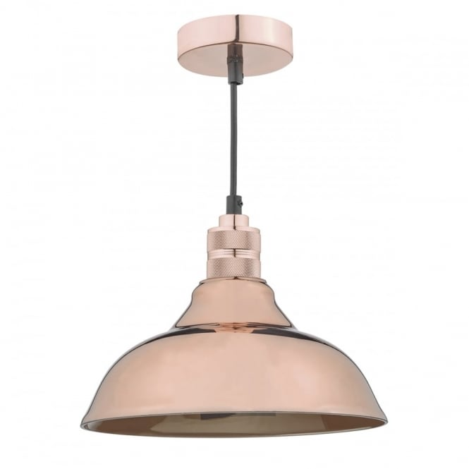 The Lighting Book URBAN easy fit high polish copper glass pendant shade