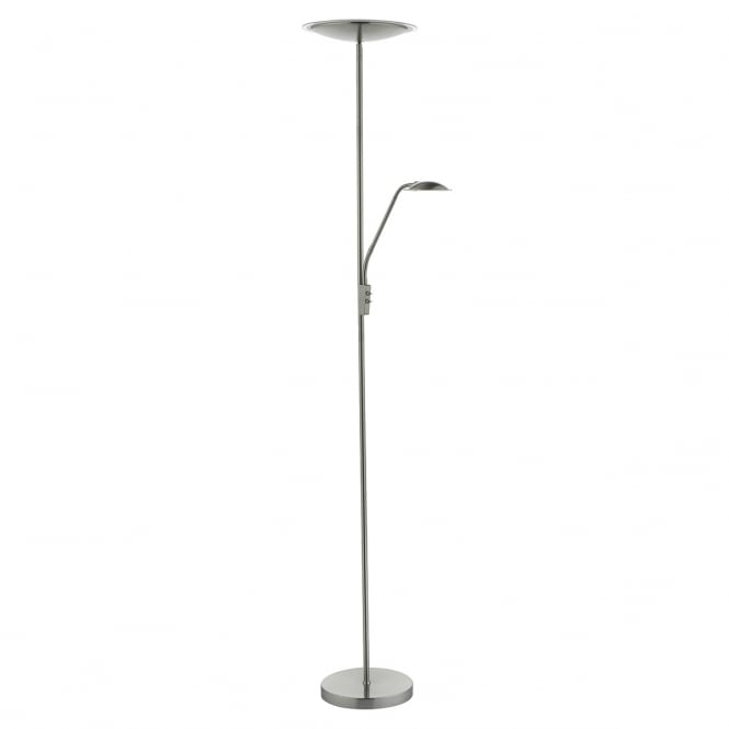UTAH satin nickel LED mother and child floor lamp