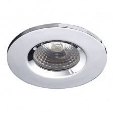 VEGA LED chrome downlight, recessed ceiling spotlight