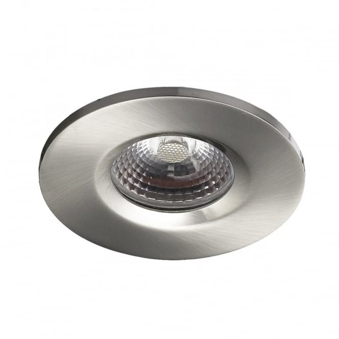 The Lighting Book VEGA LED recessed downlight, satin chrome double insulated