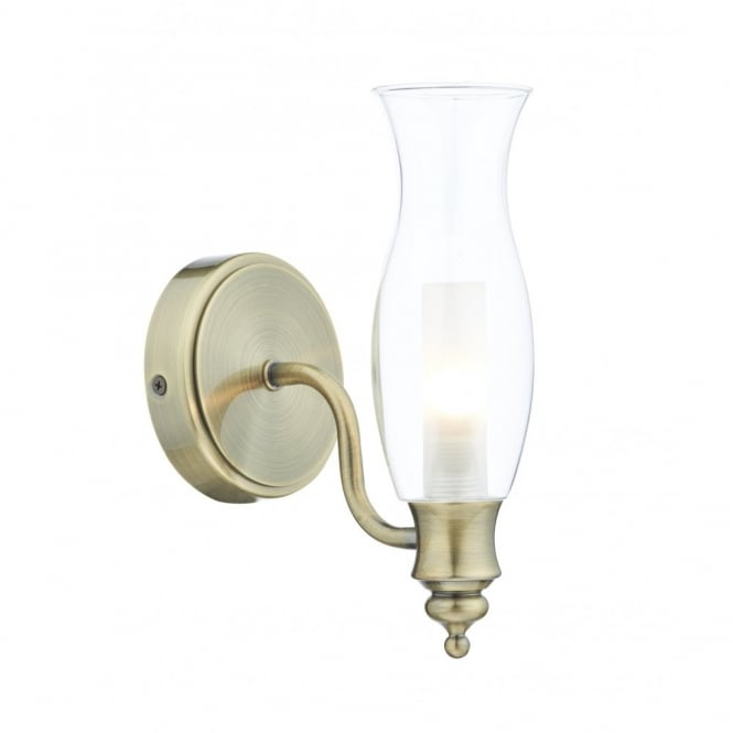 The Lighting Book VESTRY antique brass bathroom wall light