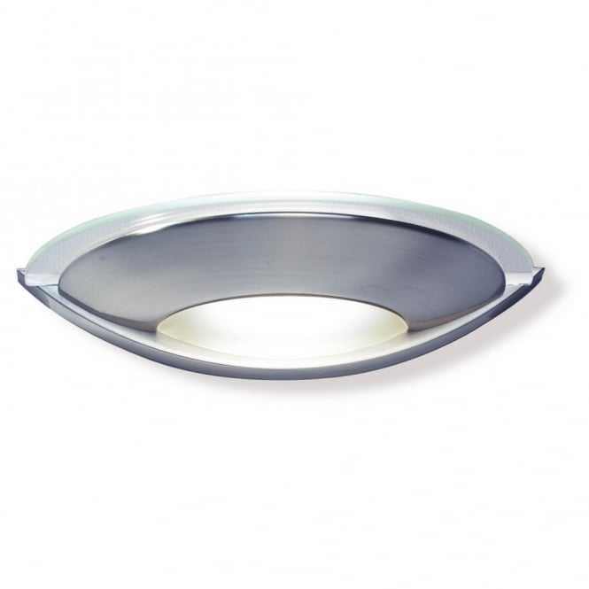 VIA satin chrome and glass wall washer light
