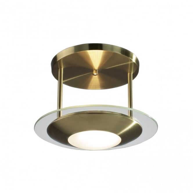 The Lighting Book VIA small semi flush antique brass ceiling light