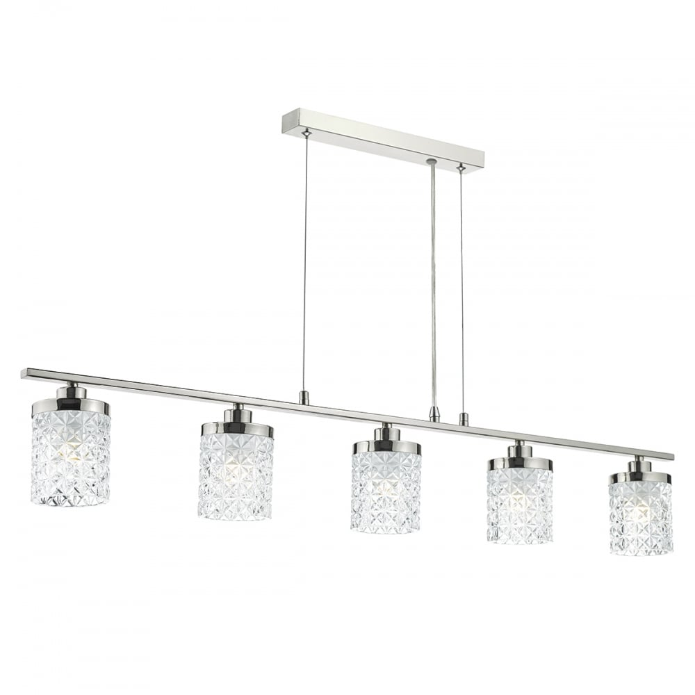 pendant bar lighting. Polished Nickel And Cut Glass 5 Light Pendant Bar Lighting