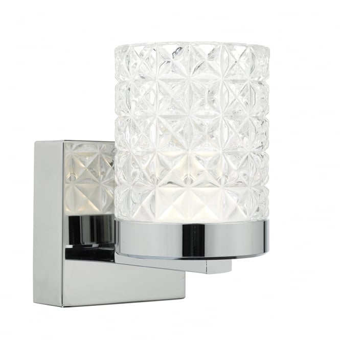 The Lighting Book VICTORIA wall light in polished nickel with clear cut glass shade