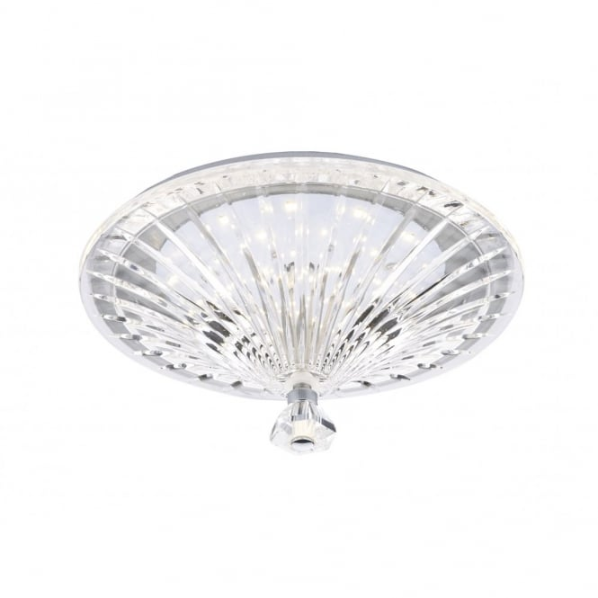 The Lighting Book VINCENT decorative flush clear crystal glass LED ceiling light