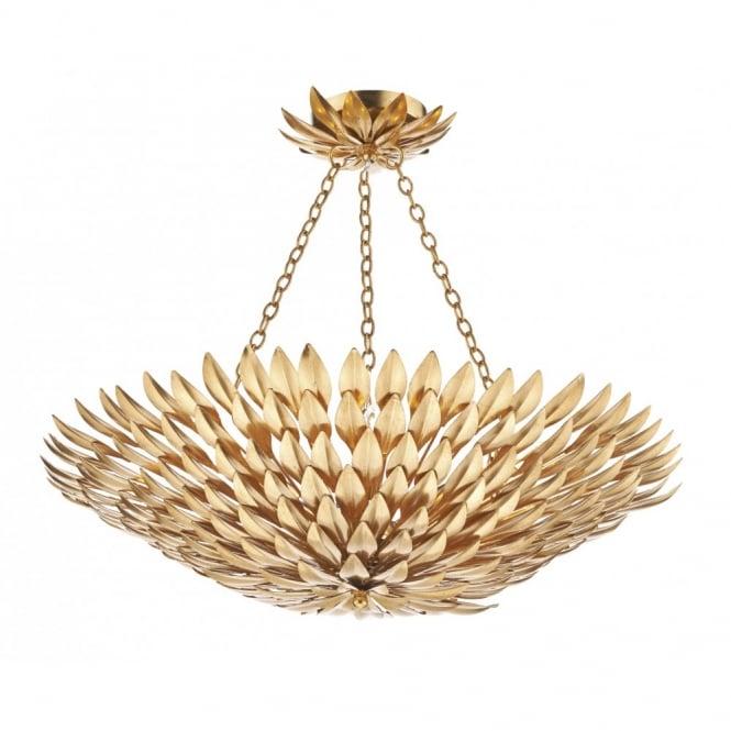 decorative gold leaf design ceiling uplighter pendant