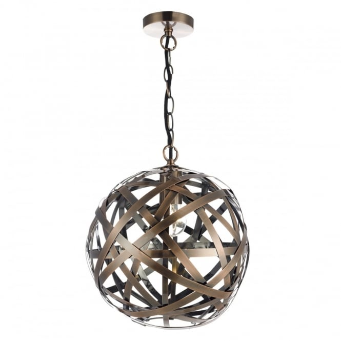 The Lighting Book VOYAGE antique copper woven globe ceiling pendant