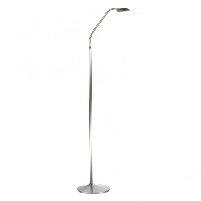 Contemporary Satin Chrome Led Floor Lamp Individually