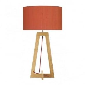 Devyn dark washed wood table lamp base wisconsin wooden table lamp base aloadofball Images