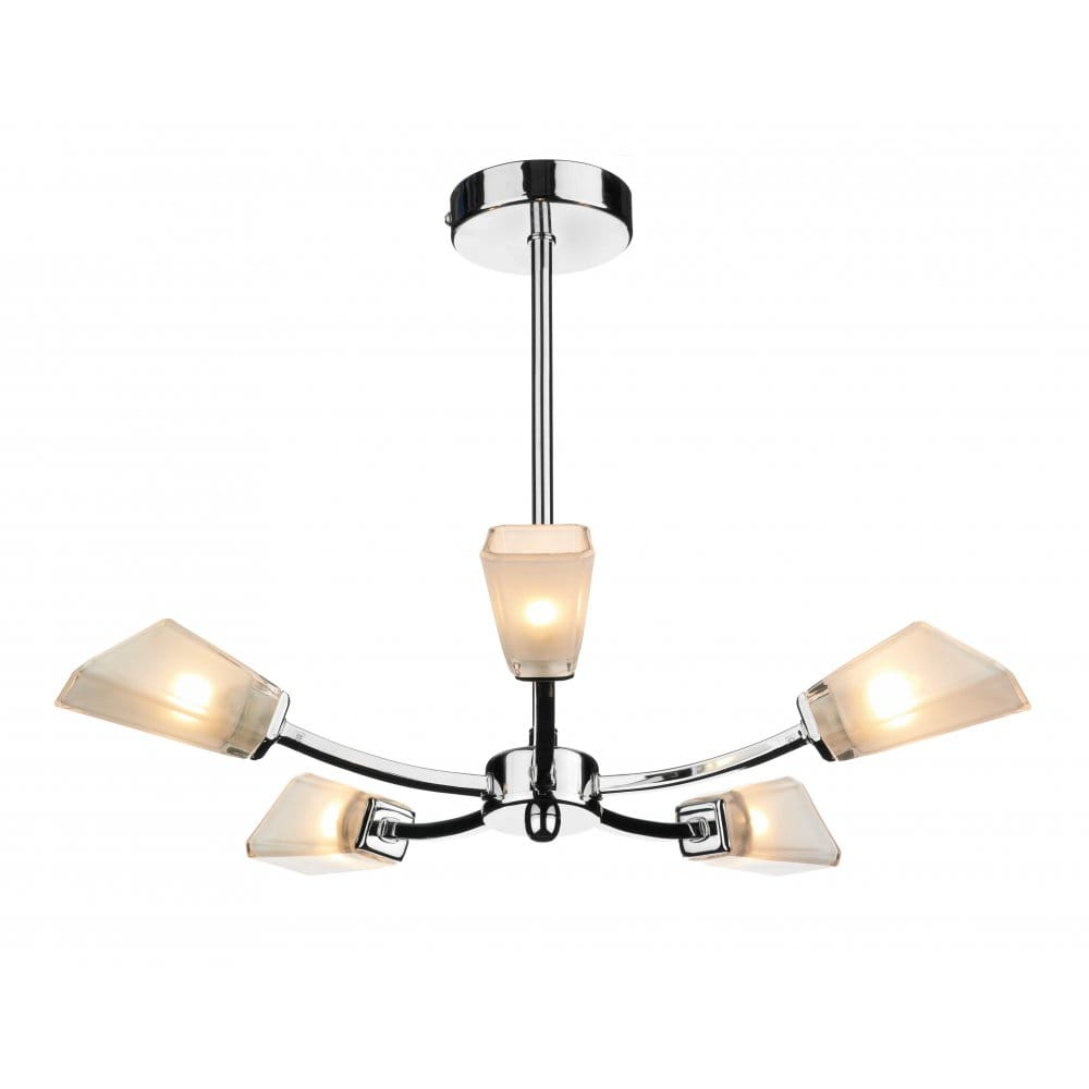 Chrome Ceiling Light: Wolsey Chrome Ceiling Light With Frosted Glass Shades