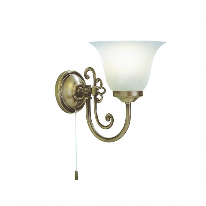 Woodstock Traditional Single Wall Light with Decorative Scroll Detail
