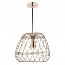 WOVEN wire work copper ceiling pendant