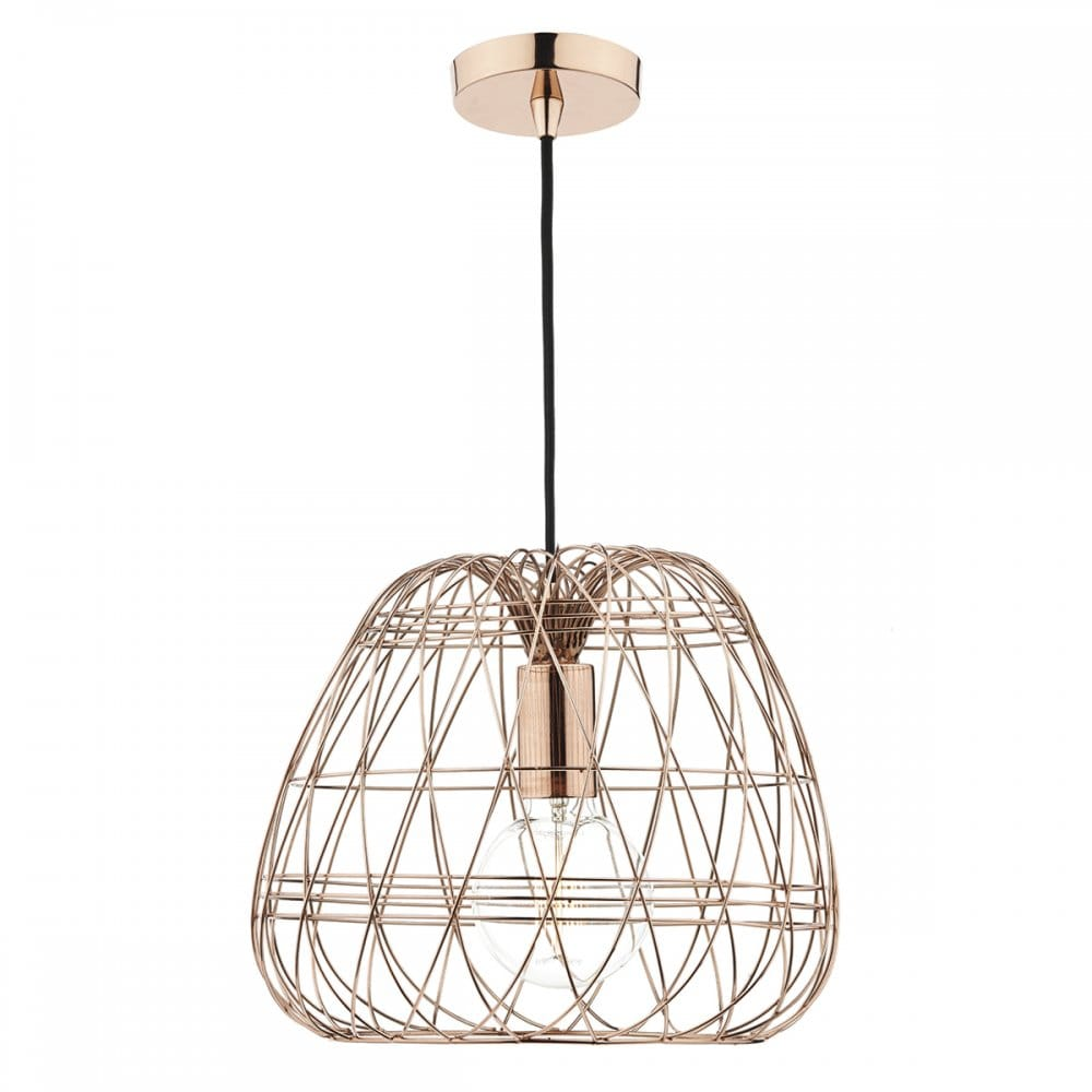 contemporary copper wire work ceiling pendant with copper