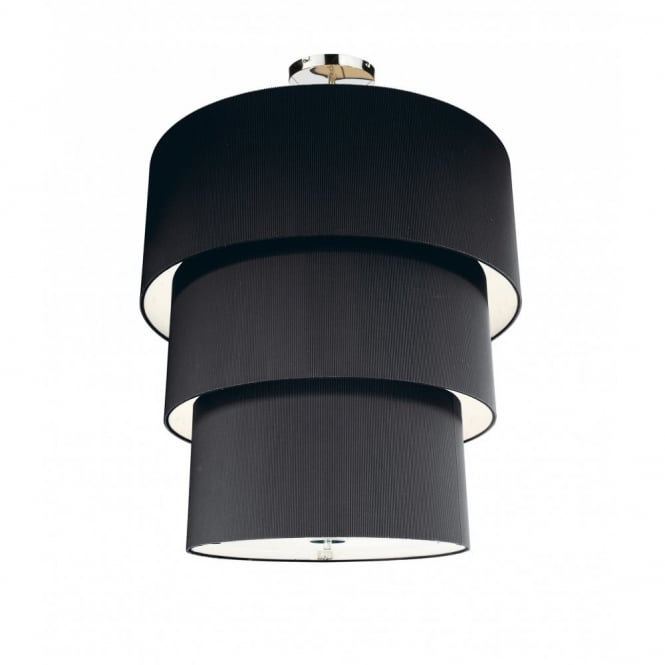 The Lighting Book ZARAGOZA large tiered black ceiling pendant shade (90cms)