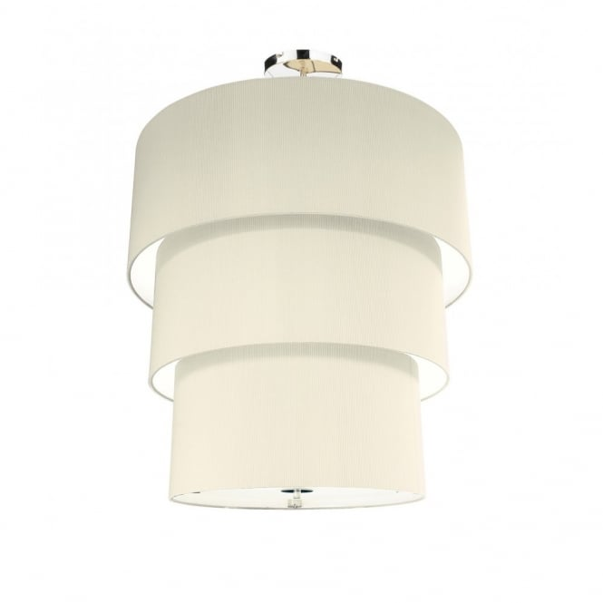 The Lighting Book ZARAGOZA large tiered cream ceiling pendant shade (90cms)