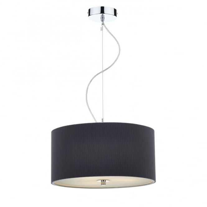 The Lighting Book ZARAGOZA small 3 light grey ceiling pendant (40cms)