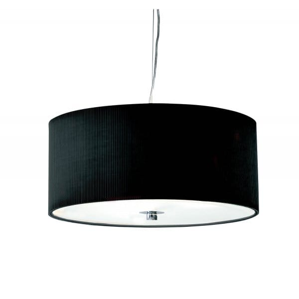 Ceiling Shade: Zaragoza Circular Black Ceiling Light Shade For High Ceilings