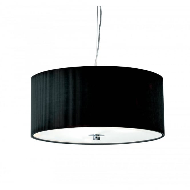 ZARAGOZA small black ceiling shade for high ceilings (40cms)