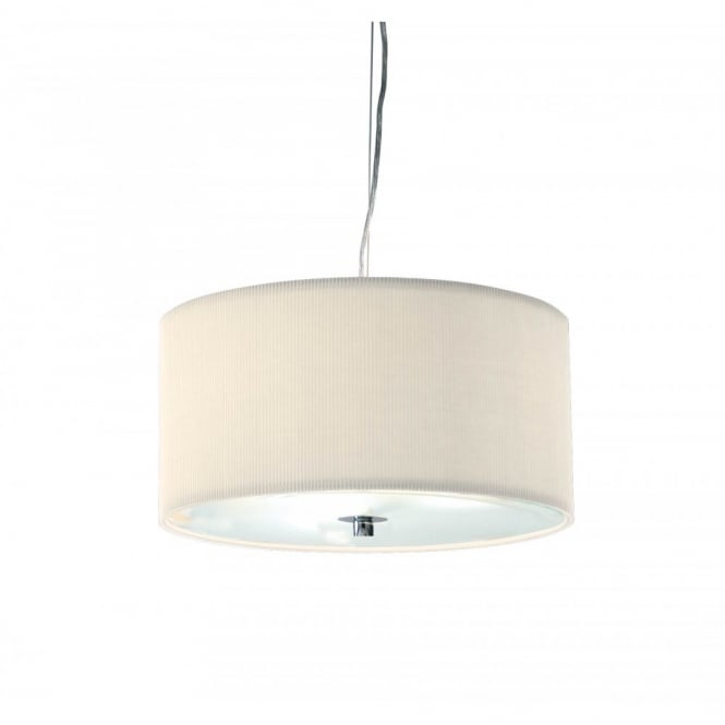 The Lighting Book ZARAGOZA small cream ceiling shade for high ceilings (40cms)