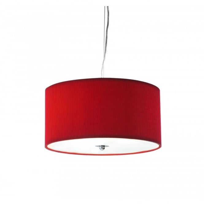 The Lighting Book ZARAGOZA small red ceiling shade for high ceilings (40cms)