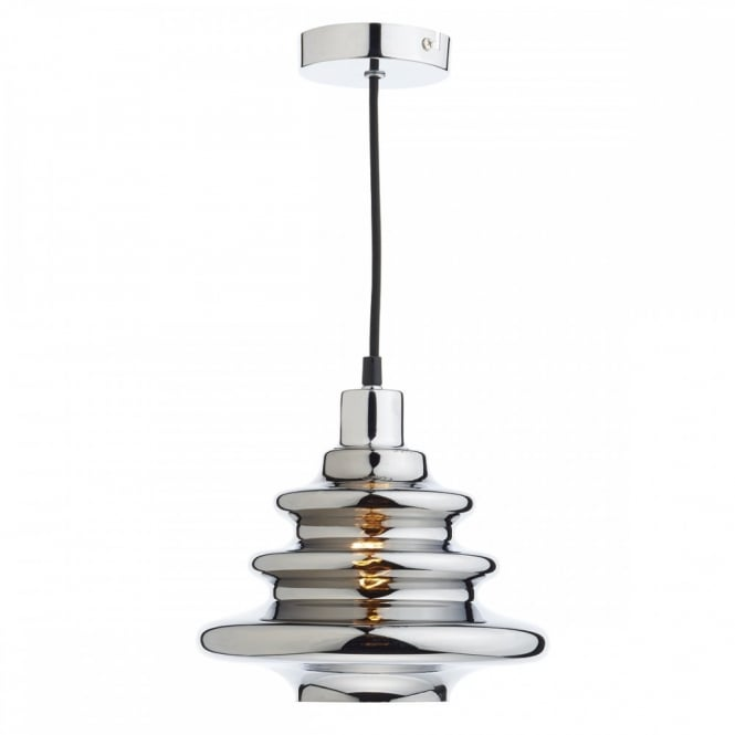The Lighting Book ZEPHYR decorative silver glass easy fit pendant