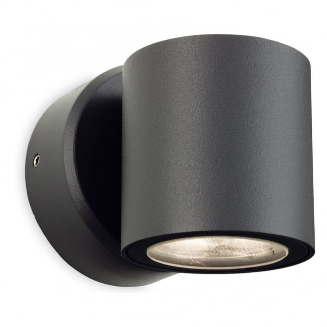 The Lighting Collection ALASKA LED graphite outdoor wall light (rounded)