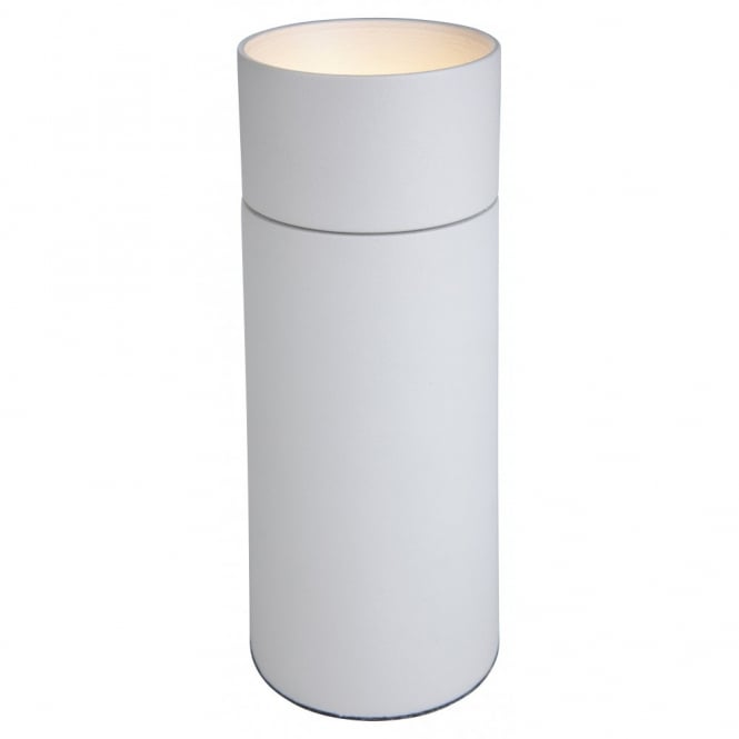 Contemporary led floor table uplighter lamp in white astoria led uplighter table floor lamp white aloadofball Image collections