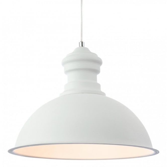 The Lighting Collection AZTEC rough sand ceiling pendant in white finish