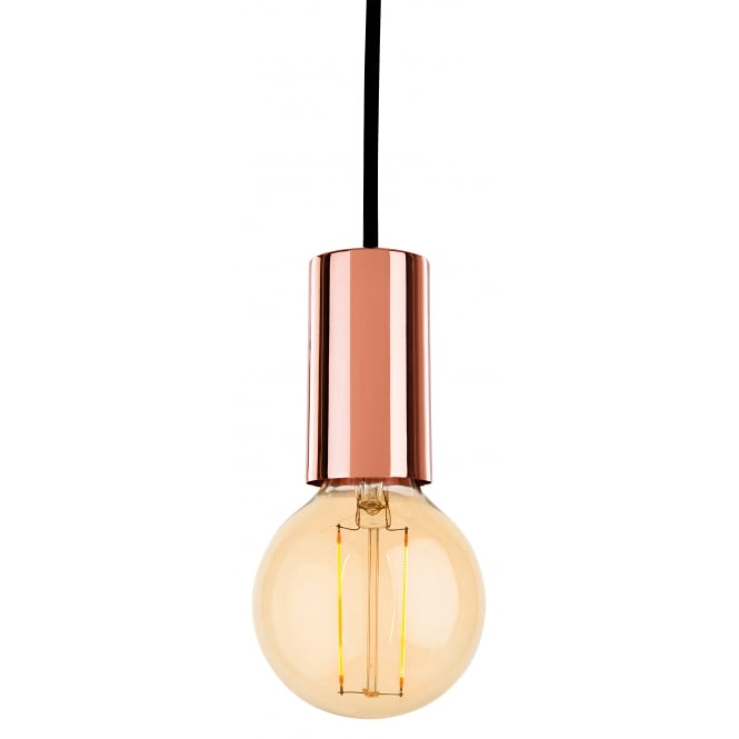 BERKELEY contemporary copper ceiling pendant with LED bulb