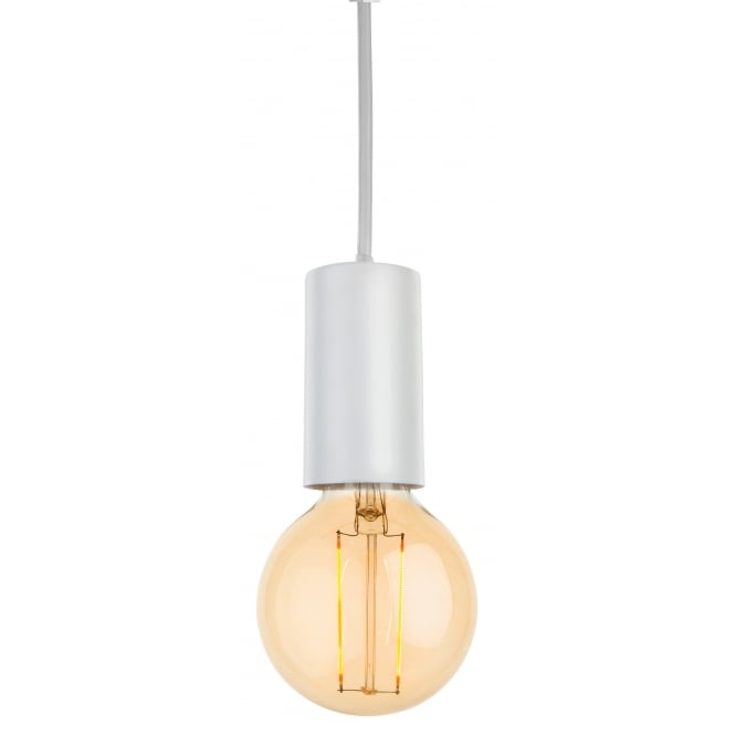 BERKELEY contemporary white ceiling pendant with LED bulb
