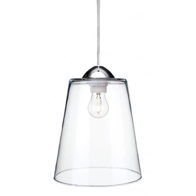 BORDEAUX tapered clear glass ceiling pendant
