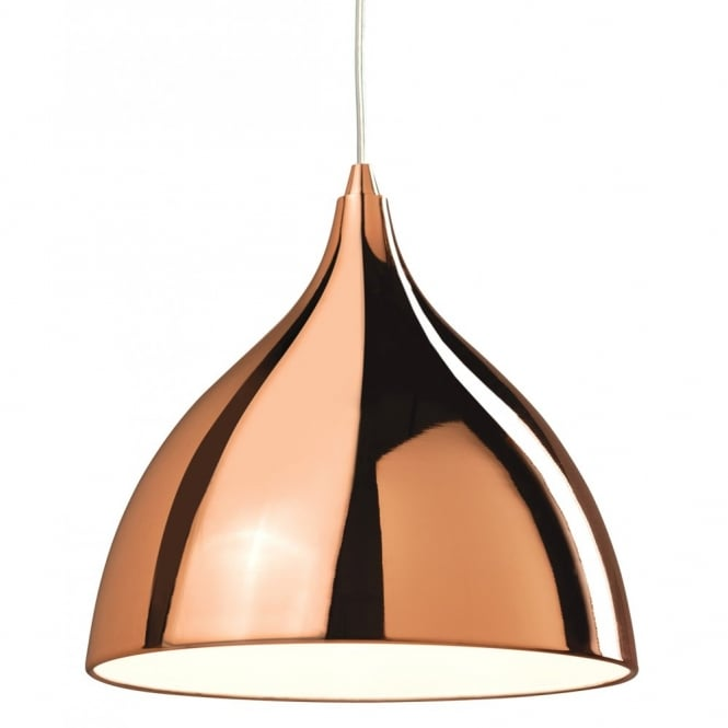 Retro Style Ceiling Pendant Light In Copper Finish