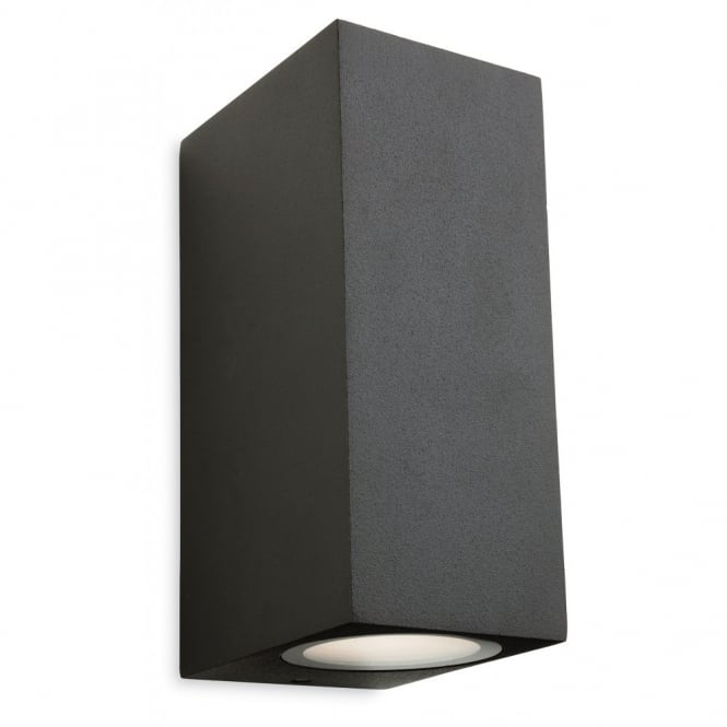 The Lighting Collection CAPITAL LED 2 light outdoor wall light in graphite (squared)