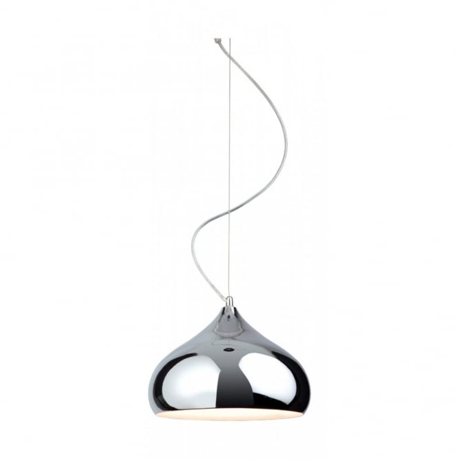 The Lighting Collection CARLA chrome ceiling pendant
