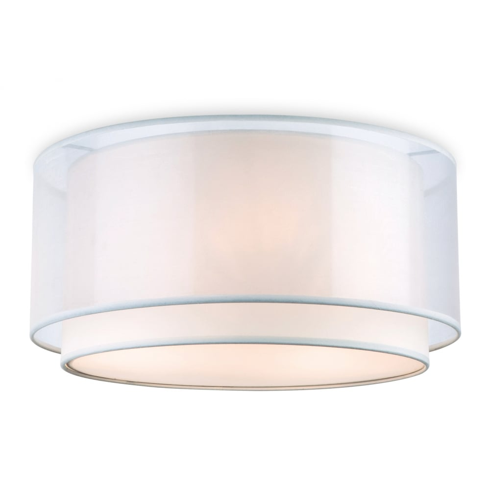 Chicago Lighting Company: Modern Semi Flush Cream Ceiling Light With Outer Shade